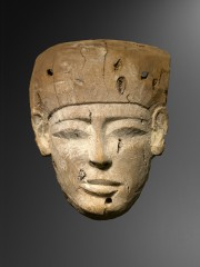Wood mummy mask