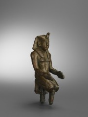 Egyptian bronze kneeling pharaoh